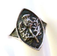 Sterling Silver Scottish Thistle Ring.